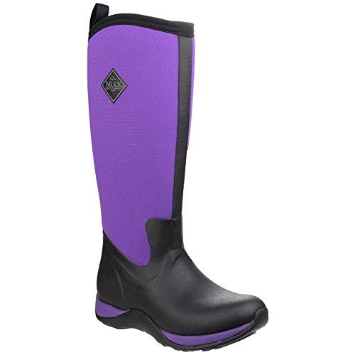 Pourpre Femme Bottines Muck Bottes Arctic Women's Noir Pluie Adventure Et Boots de qOzPw1