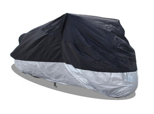 Waterproof Touring Motorcycle (RockyMRanger MOTORCYCLE COVER Water Proof Cruisers Touring Motor Bike Universal YM3BS)