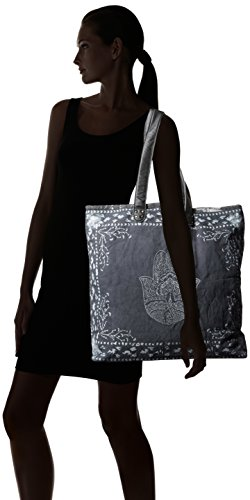 'ale By Alessandra Women's Hatha Fully Lined Bag Charcoal/white One Size Ale By Alessandra Womens Accessories
