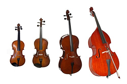 String Quartet Pack - (String Ensemble Bundle) - Violin, Viola, Cello & Bass 4 Pack