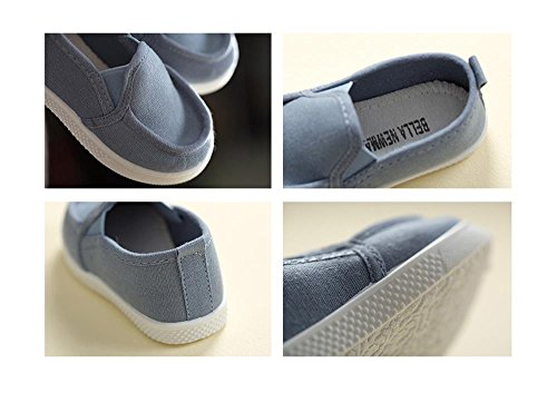 ALUK- Zapatos de bebé Deportes Casual zapatos de lona versión coreana de comodidad simple ( Color : Month Blue , Tamaño : 25 ) Month Blue