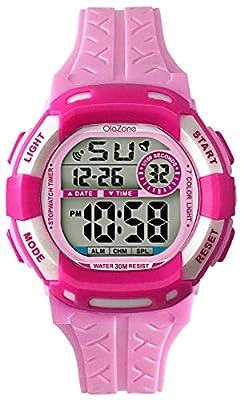 Kids Watch Digital Girls Boys 7-Color Flashing Light Water Resistant 100FT Alarm Watch for Age 4-10 from GUANG ZHOU JINGJIN WATCH CO.,LTD