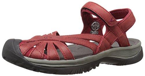 Keen Mujeres Rose Leather Sandal Dahlia / Gárgola Rojas