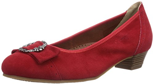 Pieds Femme Hirschkogel Talons Chaussures Rouge à Rot Couvert Andrea 3009220021 021 Conti Rot by du Avant qn4aqC
