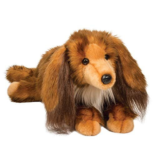 Plush Kenzie Long Hair Dachshund Stuffed Animal