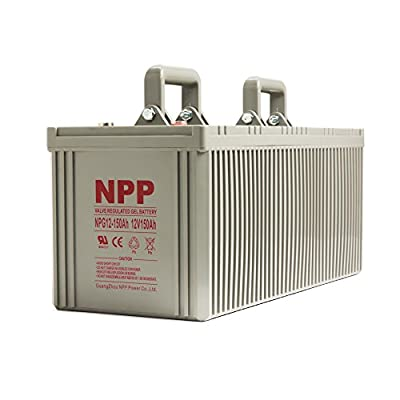 Best Cheap Deal for NPP 12V 150 Amp NPG12 150Ah Rechargeable Gel Deep Cycle Battery With Button Style Terminals from NPP - Free 2 Day Shipping Available