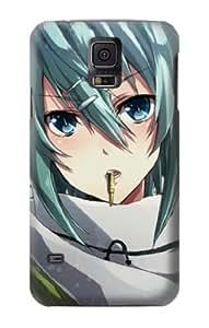 S1739 Sword Art Online Gun Gale Online Sniper Sinon Asada Shino Case Cover For Samsung Galaxy S5
