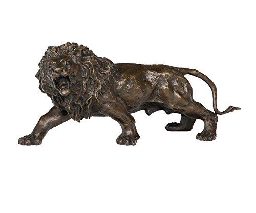 Toperkin Lion Artwork Bronze Statues Wild Animal Metal Sculpture Home Decor TPY-569