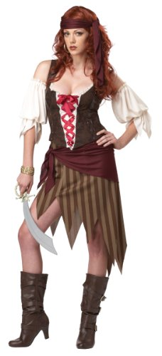 [California Costumes Buccaneer Beauty Adult Costume, Olive/Brown, X-Large] (Buccaneer Beauty Costume)