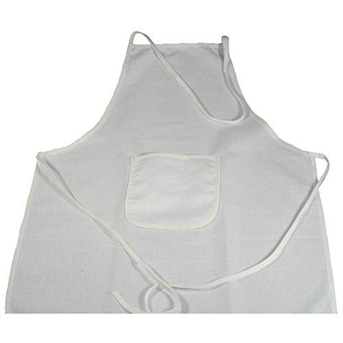 Tablier enfant en coton blanc à décorer et à peindre - peinture textile Piccolino Bastelbedarf