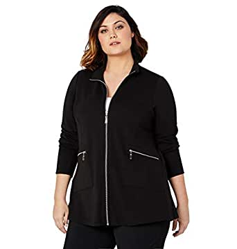 Avenue Women's Zip Front Jacket - Black - 18/20