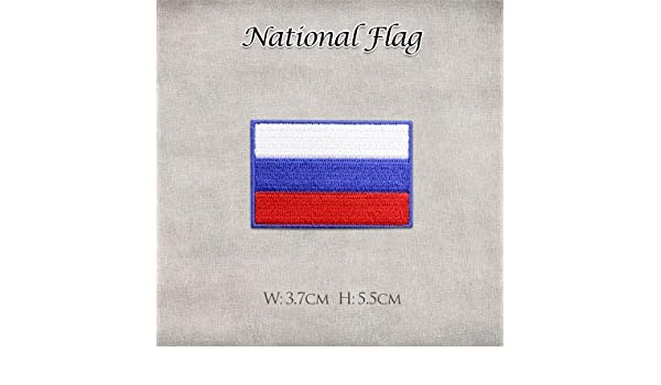 Shoppy Star - Pegatinas de la Bandera de España de Estados Unidos, Reino Unido, Rusia, Francia, Alemania, HK, Bordado, Parches de Planchado para Ropa, DIY: Bandera de Rusia: Amazon.es: Hogar