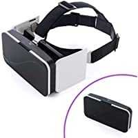Foldable VR Headset for iPhone and Android Phones 3D Virtual Reality Glasses Box for 3D Movies Video Games, Compatible with Cellphones from 4.7-6 Size