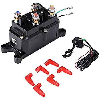 Universal Black Winch Solenoid Assembly for Arctic Cat ATV Warn Winch 0409-066