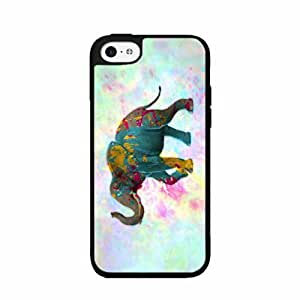 Elephant With Paint Splatter TPU RUBBER SILICONE Phone Case Back Cover iPhone 5c