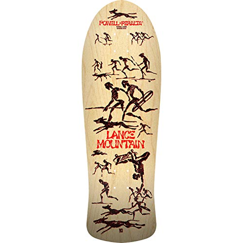 "Bones Brigade Skateboards Lance Mountain 11th Series Natural Old School Skateboard Deck - 10"" x 30.7"""