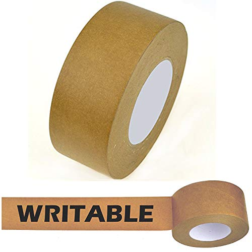 Star Brand Writable Kraft Flatback Paper Tape Covering up Writing and Markings on Reused Boxes | Ultra-Sticky Kraft Packaging Tape Sealing Cartons (2 Inch x 60 Yards, Kraft) ... ()
