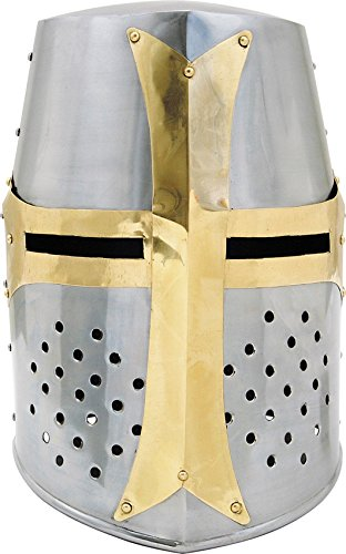 Best Price SZCO Supplies Brass Crusader Helmet