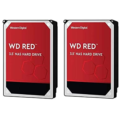 "Western Digital WD 2 Pack Red 6TB NAS 3.5"" Internal Hard Drive, 5400 RPM, SATA 6Gbps, 256MB Cache"