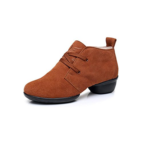 Comfort Driving Rounded B Office up Women's Suede Modern 41 Shoes Shoes Lightweight Dance Shoes Sneakers Color Spring XUE Shoes B Size Fall Toe Lace xY4PAaqga