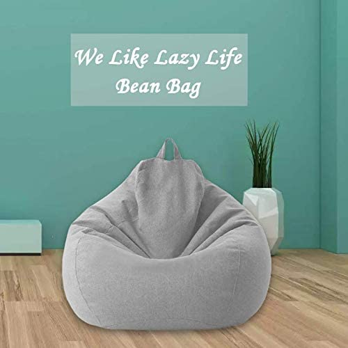 Details about  /without Filling Lazy Lounger Chair Sofa Cover Snugly Gamer Chair Large Bean Bag