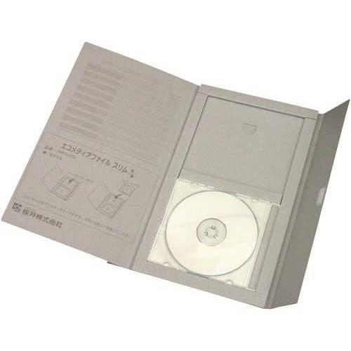 [해외]사쿠라이 에코 미디어 파일 슬림 A4 회색 25 권 / Sakurai Eco media file Slim A4 Gray 25 books