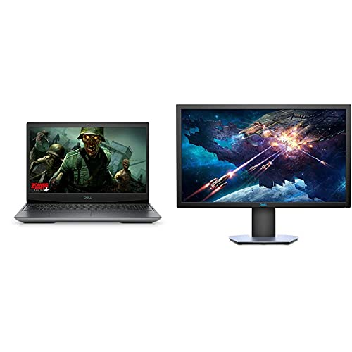 Dell G5 Gaming 5505 15.6″ (39.62 cms) FHD 120 Hz Display Laptop – Silver + Dell 24 inch (60.96cm) Full HD Gaming Monitor with HDMI and DP Ports (Black)