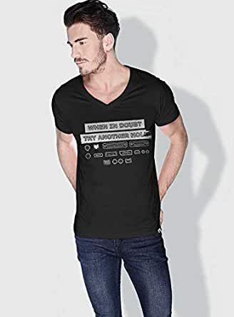 Creo When In Doubt Try Another Hole Funny T-Shirts For Men - L, Black