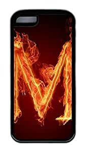 Burn M Lovely Mobile Phone Protection Shell For iPhone 5c Cases - Unique Cool Black Soft Edge Case