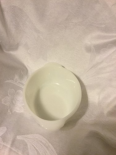 Vintage fire king white milk glass oval casserole dish no lid
