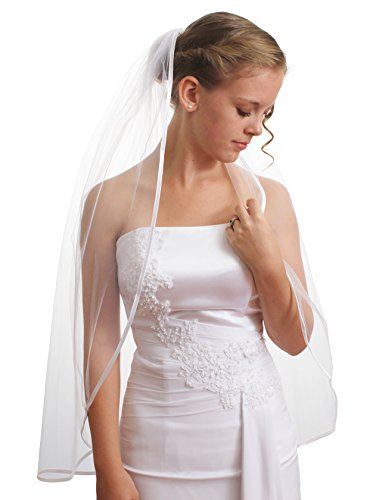 SparklyCrystal Women's Wedding Veil 1 T 1/4
