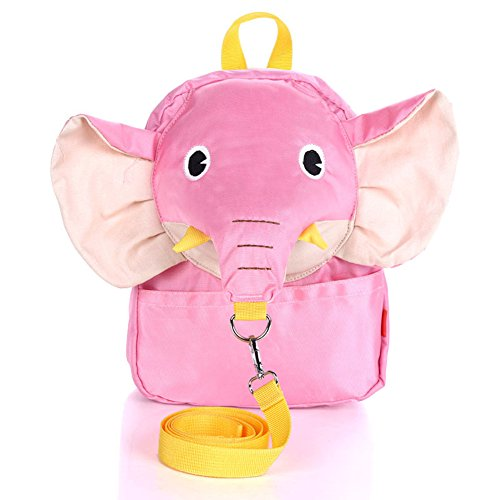 QiRong Toddler Backpack Kids Insulated with Safety Harness Leash Preschool Backpack (Pink)
