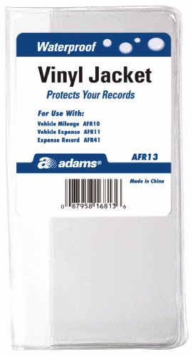 Adams Vehicle Journal Cover, Vinyl, 6.88 x 6.56 Inches, Clear (AFR13)