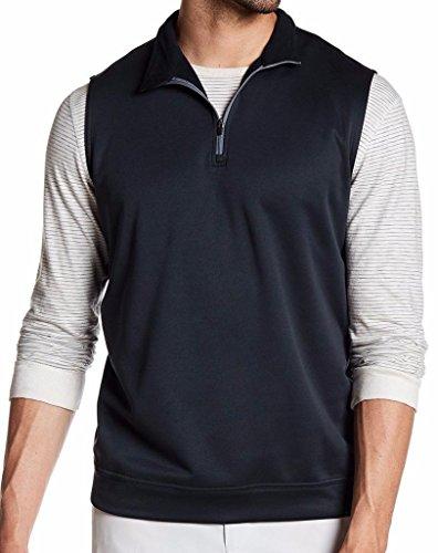 PETER MILLAR E4 Performance Warmth Meade Black 1/4 Zip Vest Size M from PETER MILLAR