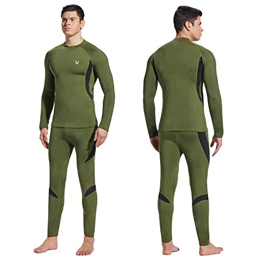 Men/'s Sports  Thermal Underwea  Winter Warm Long Johns Fleece Sweat high quality