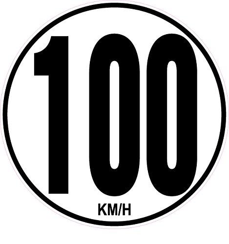 KM//H 20/cm rund DIN 1451/Zugmaschine Bus LKW Trailer Anh/änger 2/Aufkleber 100/kmh