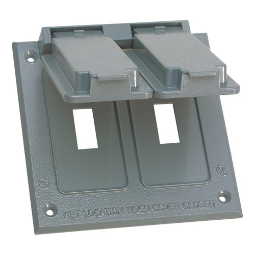 - Sigma Electric 14349 2-Gang Switch Cover, Gray