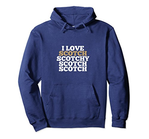 Unisex Scotch Shirt - I Love Scotch Scotchy HOODIE 2XL Navy (12 Whiskey Old Year)