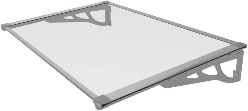 versch Farben SCHARTEC Aluminium-Vordach als Haust/ürvordach in 120 oder 150 cm 1200 x 900 mm, schwarz Vordach f/ür Haust/ür /Überdachung