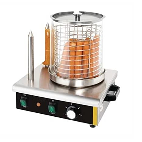 Bar Máquina de Perritos Calientes Hot-Dogs Profesional - 2 Pinchos - Acero INOX (