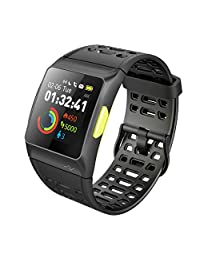 Smart Watch, iWOWNfit P1 Fitness watch: Activity tracker with Heart Rate Monitor, HRV Analysis, Pedometer, Sleep, Steps Tracker with Multi-Sports Modes, IP68 Waterproof Bluetooth watch for Android & IOS