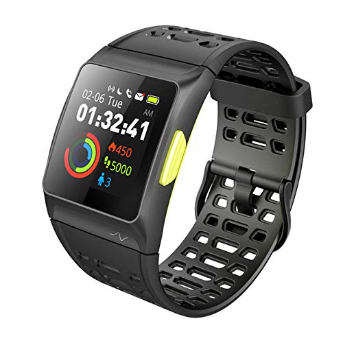 iWOWNfit Smart Watch, P1 Fitness Watch: Activity Tracker with Heart Rate Monitor, HRV Analysis, Pedometer, Sleep, Steps Tracker with Multi-Sports Modes, IP68 Waterproof Bluetooth GPS Running Watch by iWOWNfit