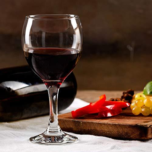 Stemmed Red Wine Glasses Set of 6, All Purpose 12 ¼ Oz Lead Free Long Stem Wine Glasses, Crystal Clear, Dishwasher Safe, Restaurant Quality