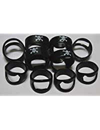 Access 10pcs Set Black Skull Head Stainless Steel Beer Ring Bottle Opener With Mixing Sizes reviews