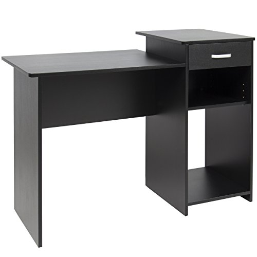 Best Choice Products Student Computer Desk Home Office Wood Laptop Table Study Workstation Dorm Bk