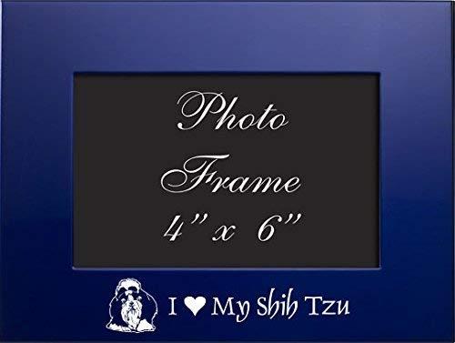 4 x 6 Metal Picture Frame I Love My Shih Tzu