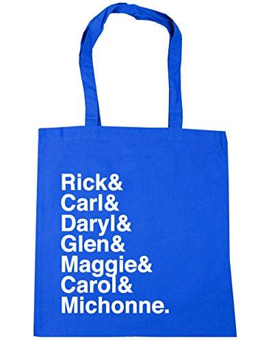 HippoWarehouse DARYL y Rick y Carl & Glen & Maggie & Carol & Michonne Tote Compras Bolsa de playa 42cm x38cm, 10litros Azul Aciano