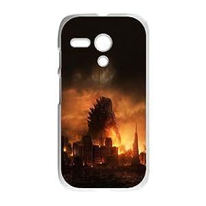Motorola G Cell Phone Case White Godzilla Poster Film SLI_644475