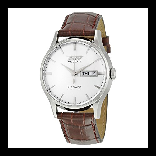 tissot-mens-tist0194301603101-heritage-visodate-stainless-steel-automatic-watch-with-brown-leather-b