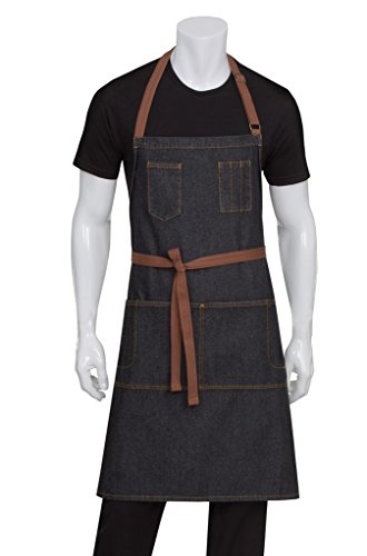 Chef Works Unisex Memphis Bib Apron, Black, One ()